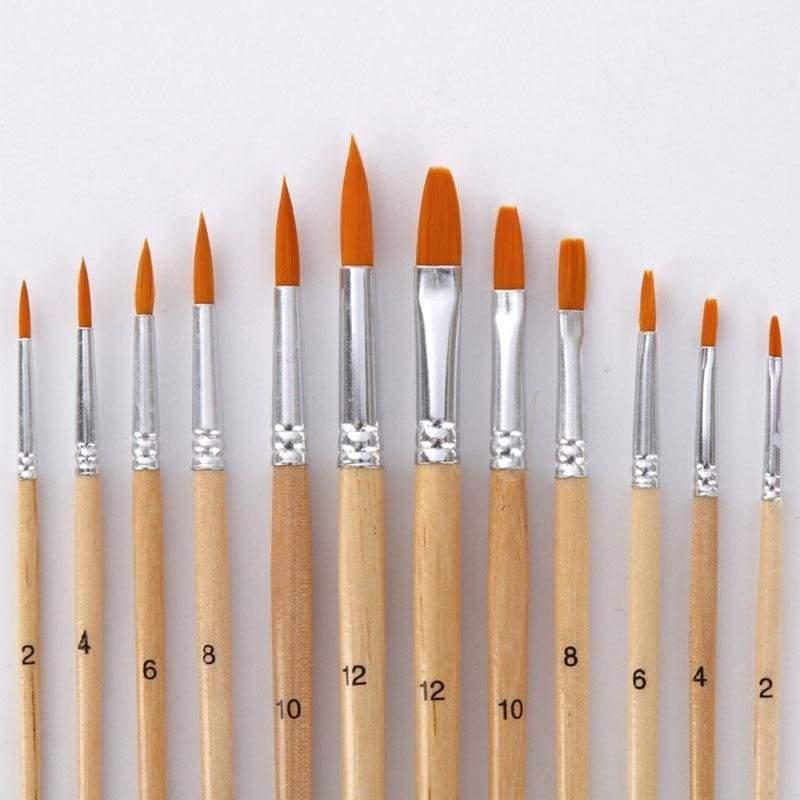 12 Pcs different paint brush - Paint Brushes