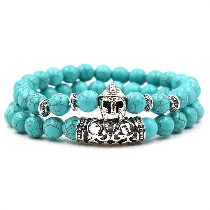 2PCS/Set Silver Color Buddha Bracelet - Armor - Strand Bracelets