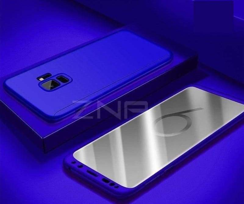 360 Degree Full Cover Luxury Phone Case For Samsung Galaxy - Blue / S7 - Fitted Cases