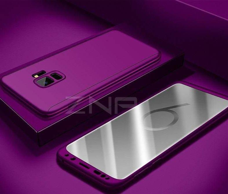 360 Degree Full Cover Luxury Phone Case For Samsung Galaxy - Purple / S7 - Fitted Cases