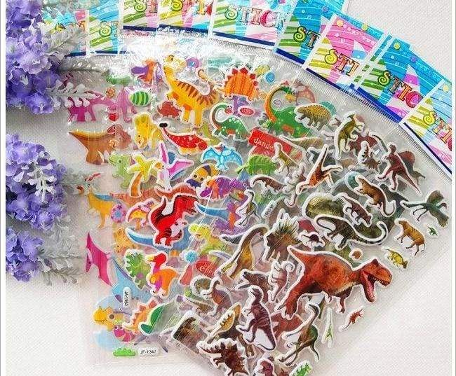 3D Colorful Dinosaur Stickers kids - Stickers