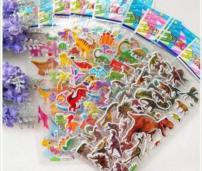3D Colorful Dinosaur Stickers kids - Random - Stickers