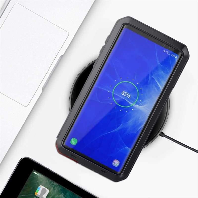 5D Curved Protective Luxury doom Armor Case Metal Samsung - Black / For Note 8 / add Full Glue Glass - Fitted Cases