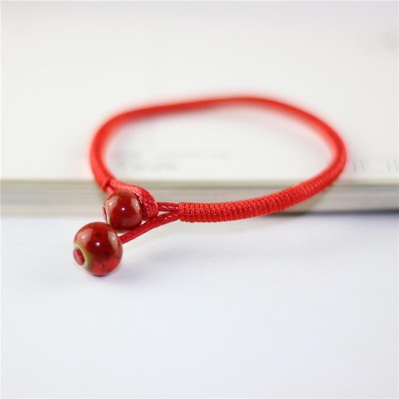 7 Chakra Bracelet Yoga Bracelet Healing - red beeds - Charm Bracelets