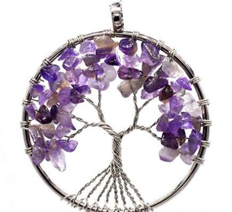 7 Chakra Healing Crystal Necklace Pendants - Amethyst - Pendants