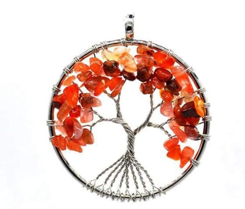 7 Chakra Healing Crystal Necklace Pendants - carnelian - Pendants