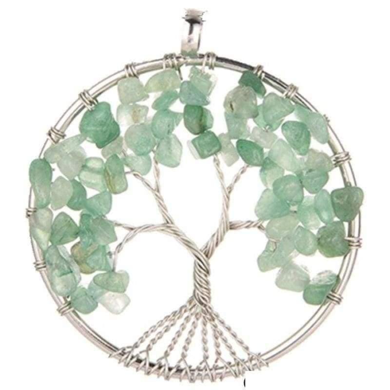 7 Chakra Healing Crystal Necklace Pendants - Green Aventurine - Pendants