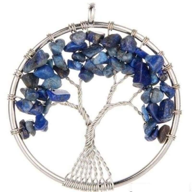 7 Chakra Healing Crystal Necklace Pendants - lapis lazuli - Pendants