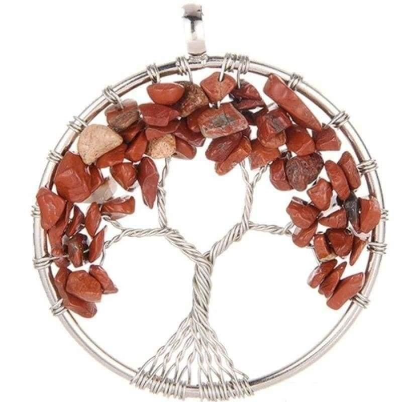 7 Chakra Healing Crystal Necklace Pendants - Red Jasper - Pendants
