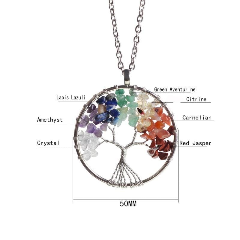 7 Chakra Healing Crystal Necklace Pendants - Pendants