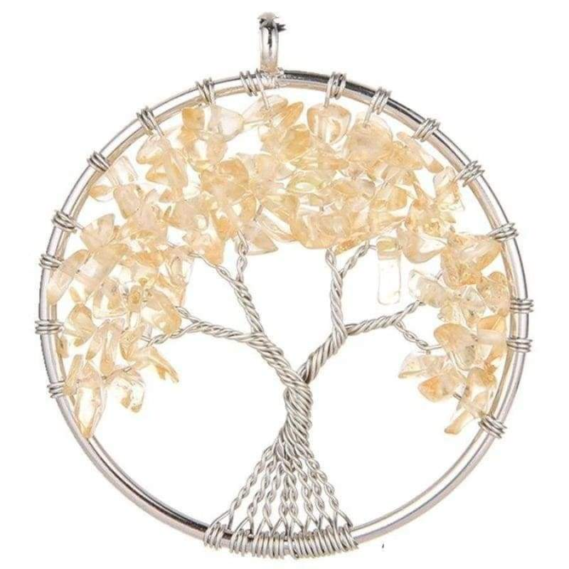 7 Chakra Healing Crystal Necklace Pendants - Topaz Citrine - Pendants