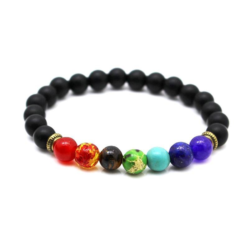 7 Chakras Diffuser Lava Rock Bracelet - Charm Bracelets