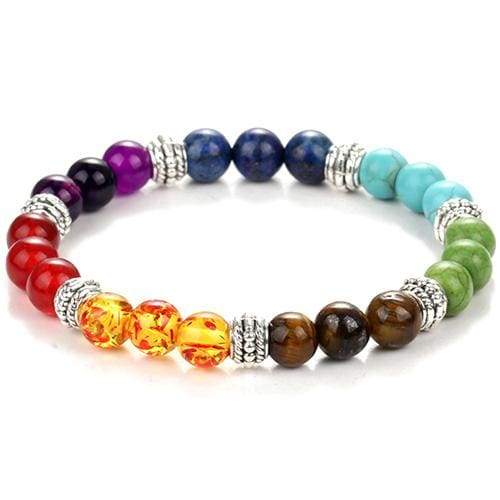 7 Chakras Diffuser Lava Rock Bracelet - colorful - Charm Bracelets