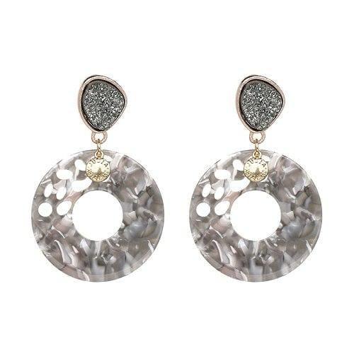 7 Colors Fashion Tassel Earrings - 50774-GY - Drop Earrings