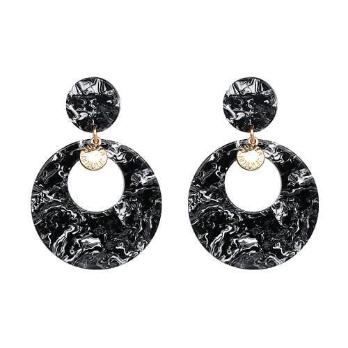 7 Colors Fashion Tassel Earrings - 50777-BK - Drop Earrings