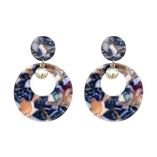 7 Colors Fashion Tassel Earrings - 50777-BU - Drop Earrings