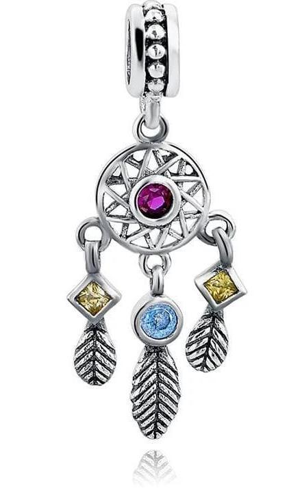 925 Sterling Silver Charms Beads - autumn Leaves Charm - Beads