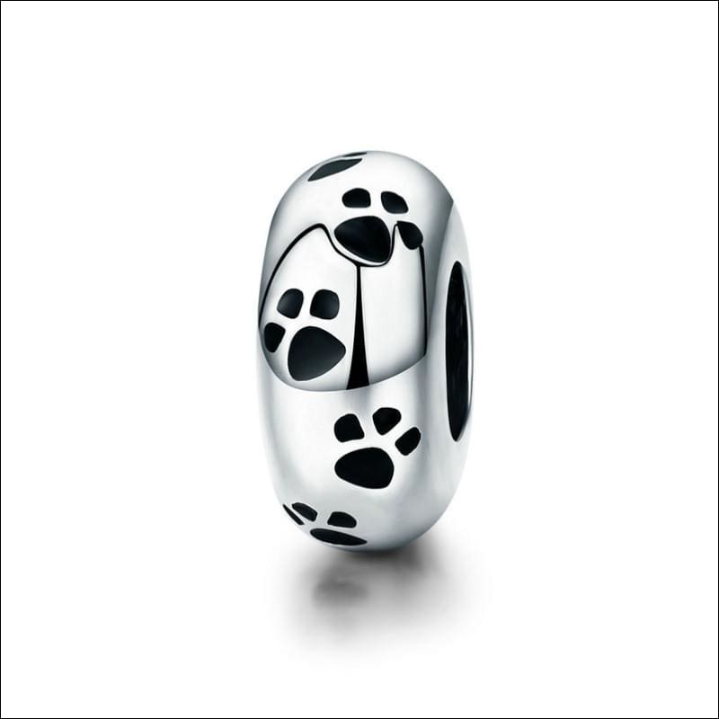 925 Sterling Silver Poodle Cute Puppy And French Bulldog Beads Charm - ECC594 - Beads