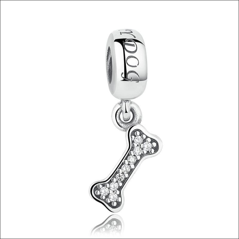 925 Sterling Silver Poodle Cute Puppy And French Bulldog Beads Charm - WEUS083 - Beads