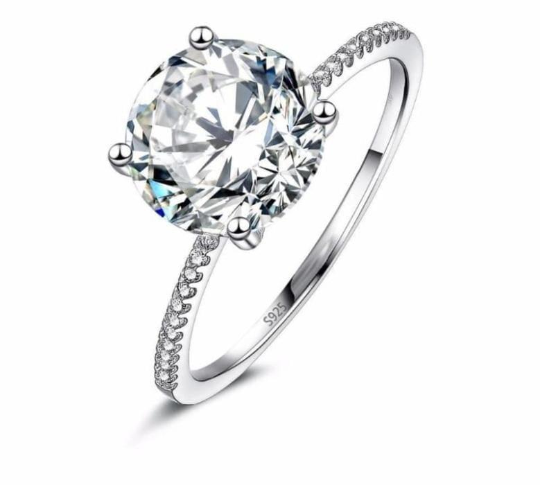 925 Sterling Silver Ring For Your Valentine - 10 / 18K Gold Color - Wedding Bands