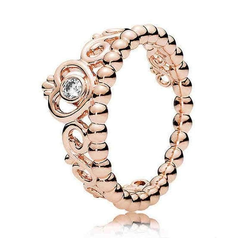 925 Sterling Silver Rose Gold Timeless Elegant Rings - 6 / 1 - Rings