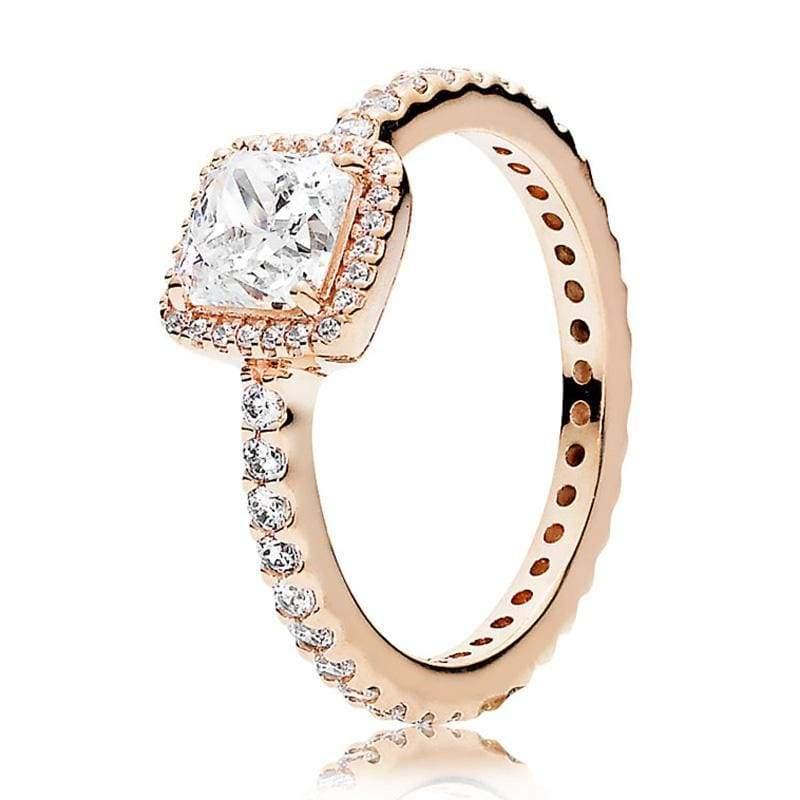 925 Sterling Silver Rose Gold Timeless Elegant Rings - 6 / 5 - Rings