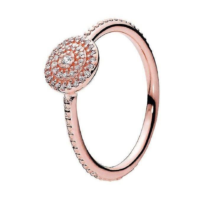 925 Sterling Silver Rose Gold Timeless Elegant Rings - 6 / 7 - Rings