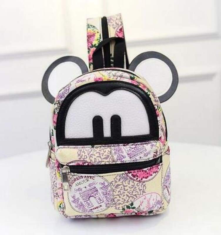 Adorable Minnie Backpack For Girls - Canvas Mickey 1 - Backpacks