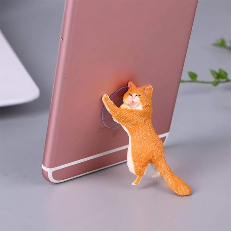 Adorable Phone Stand Cat Just For You - orange - Mobile Phone Holders & Stands