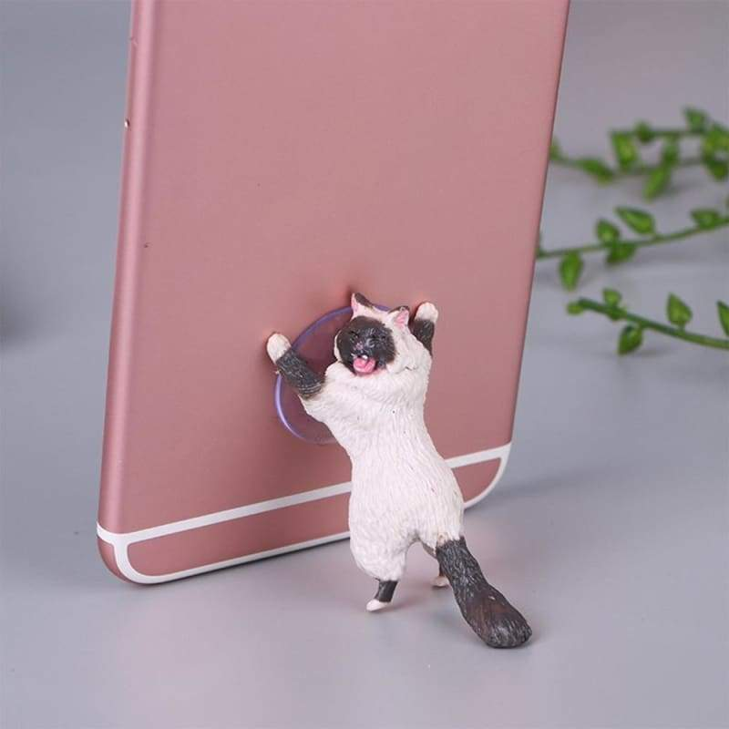 Adorable Phone Stand Cat Just For You - white 02 - Mobile Phone Holders & Stands