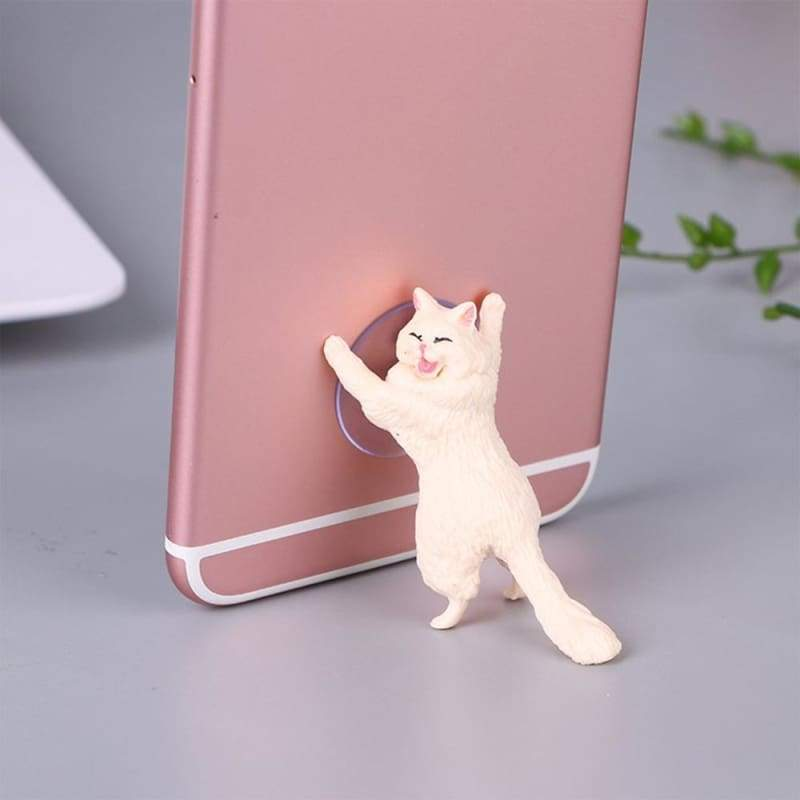Adorable Phone Stand Cat Just For You - white - Mobile Phone Holders & Stands