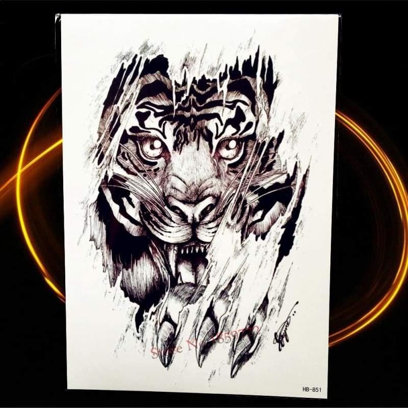 Africa Serengeti Lion Temporary tattoo designs - HHB851 - Temporary Tattoos