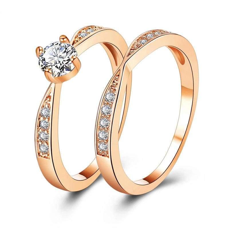 Amazing Cubic Zirconia Ring - 6 / Gold - Rings