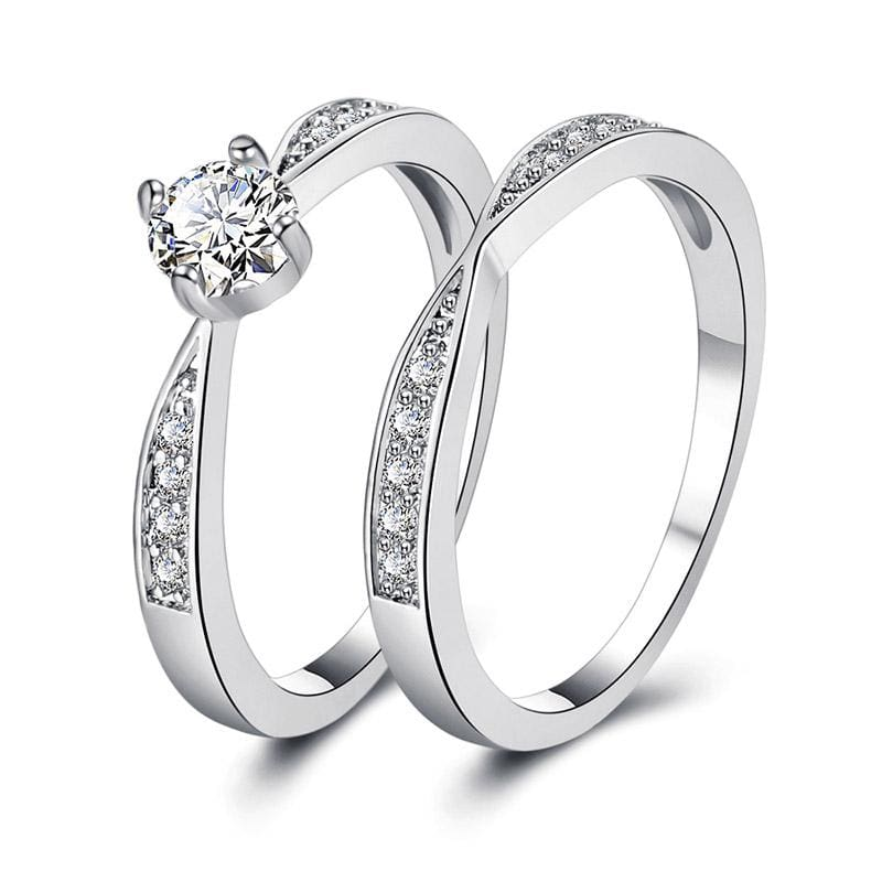 Amazing Cubic Zirconia Ring - 6 / Silver - Rings