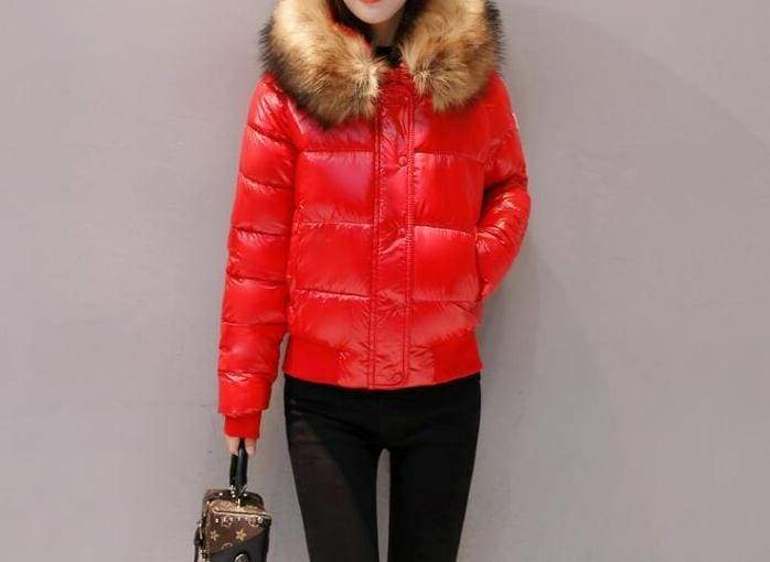 Amazing Fur Hooded Jacket - Red / S - Parkas