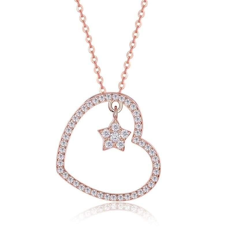 Amazing Heart Pendant Necklace - A - Pendant Necklaces