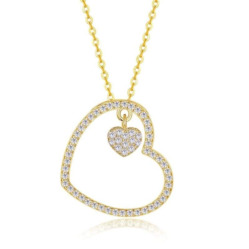 Amazing Heart Pendant Necklace - B - Pendant Necklaces