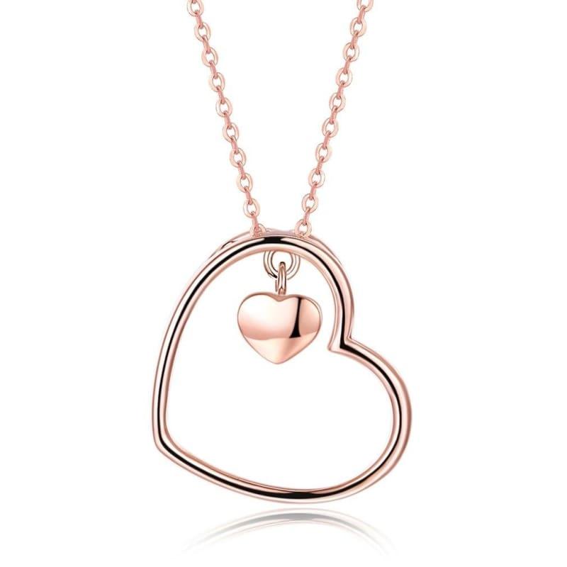 Amazing Heart Pendant Necklace - C - Pendant Necklaces