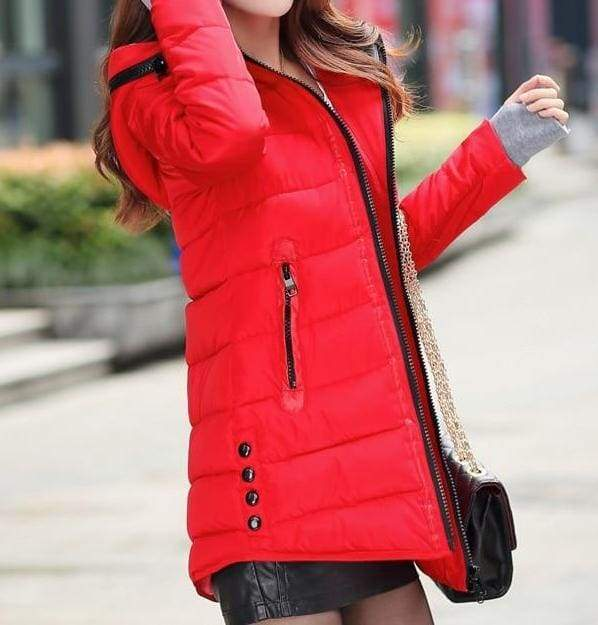Amazing Hooded Warm Coat - red / XXL - Parkas