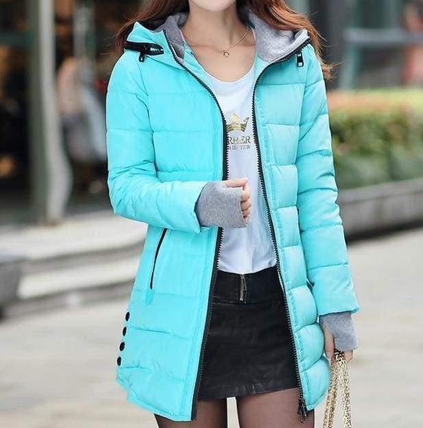 Amazing Hooded Warm Coat - sky blue / XXL - Parkas