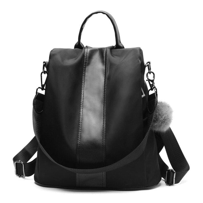 Anti-thief Backpack Just For You - Black Oxford / 31x30x15cm - Backpacks