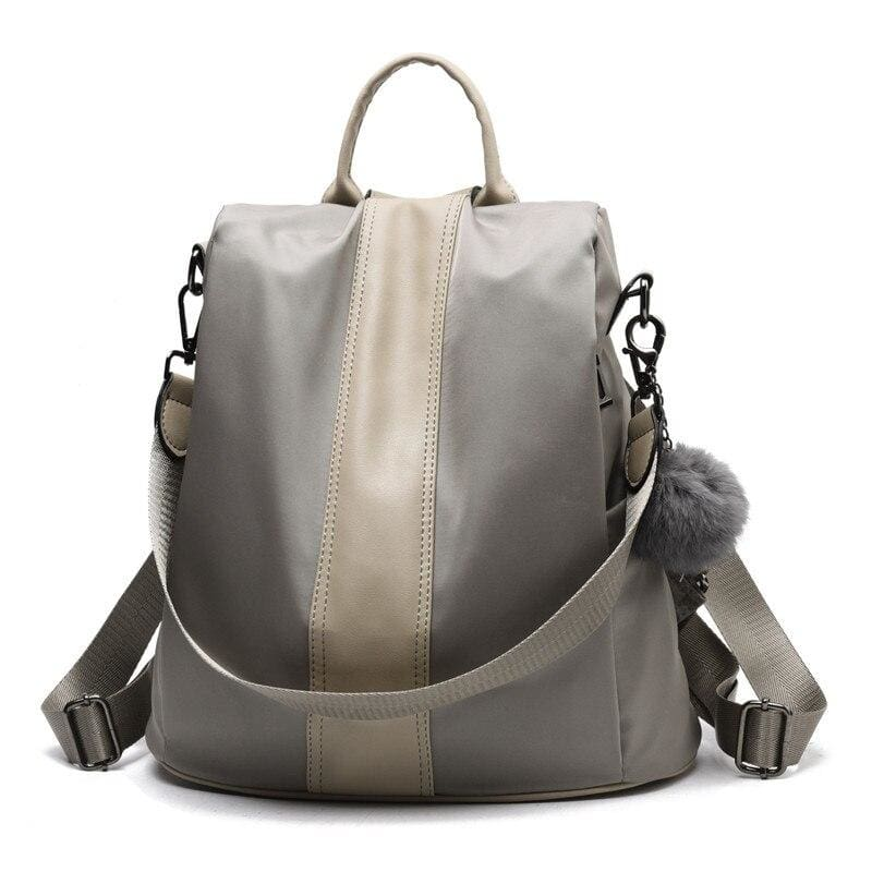 Anti-thief Backpack Just For You - Grey / 31x30x15cm - Backpacks