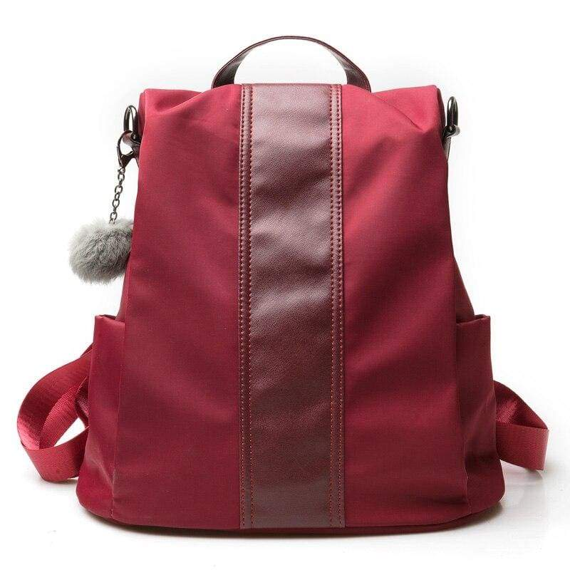 Anti-thief Backpack Just For You - Red / 31x30x15cm - Backpacks