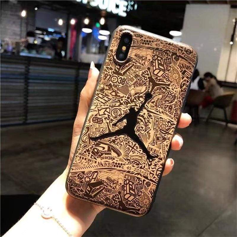 Basketball Cover for iPhone - Black Jordan / for iPhone 6 6s - Half-wrapped Case