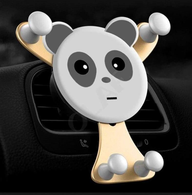 Bear Hug Car Phone Holder - Gold Bear - Mobile Phone Holders & Stands