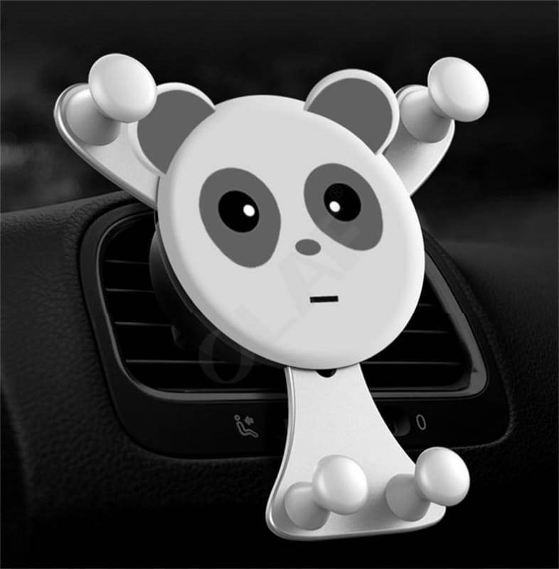 Bear Hug Car Phone Holder - Silver Bear - Mobile Phone Holders & Stands