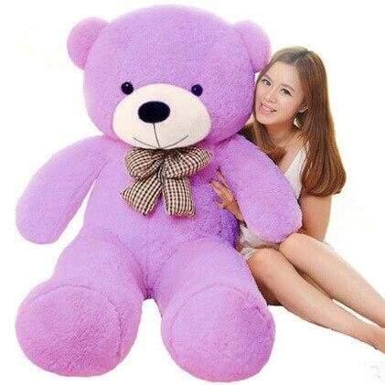 Big Giant Teddy Bear - 60cm / Purple - Teddy Bear
