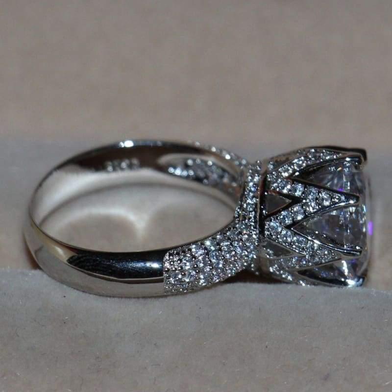 Big White Topaz Ring - Rings