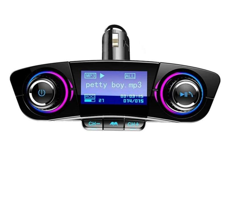 Bluetooth MP3 Player USB Car Phone Charger - Black - FM Transmitters