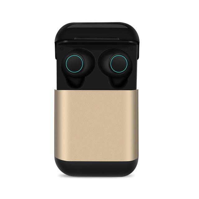 Bluetooth TWS Earbuds Wireless Earphones - Gold - Smart Watches1